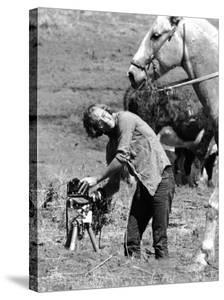 Life Photographer Vernon Merritt at Work on an Apache Indian Reservation by Vernon Merritt III