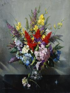 Still Life with Buddleia, Hydrangea and Clematis by Vernon Ward