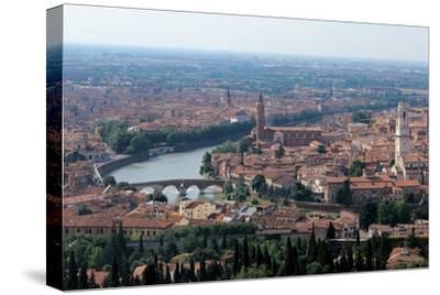 Verona, Italy, with Adige River. 20th c. Veneto, Italy.