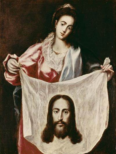 Veronica and the Holy Veil-El Greco-Giclee Print