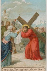 Veronica Wipes the Face of Jesus. the Sixth Station of the Cross