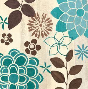 Abstract Garden Blue II by Veronique Charron