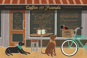 Coffee and Friends I by Veronique Charron