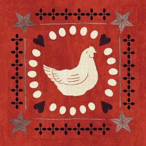 Little Red Farm Tile III by Veronique Charron