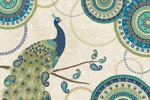 Peacock Paradise I by Veronique Charron