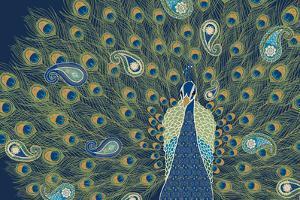 Peacock Paradise VI by Veronique Charron