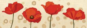 Poppies Dance III by Veronique Charron