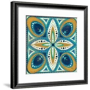 Proud as a Peacock Tile II by Veronique Charron