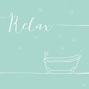 Underline Bath V Teal by Veronique Charron