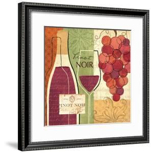 Wine and Grapes I by Veronique Charron