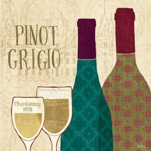 Wine Collage VI by Veronique Charron