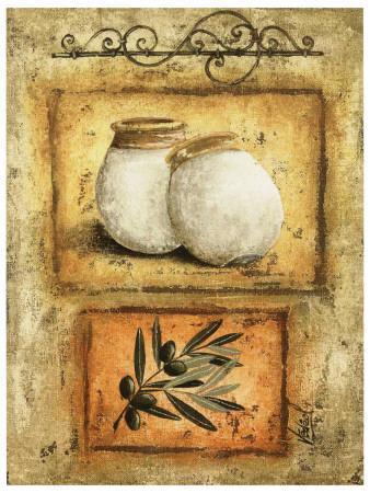 Pots et Branche d'Olivier