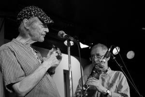 Michael Horovitz, 100 Club, London, Poetry Day, October 2010 by Veronique Dubois