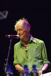 Michael Horovitz, During a Performance of 'Poem', Queen Elizabeth Hall, London, 14th June 2012 by Veronique Dubois