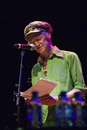 Michael Horovitz, During a Performance of 'Poem', Queen Elizabeth Hall, London, 14th June 2012