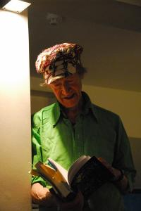 Michael Horovitz, Private Reading, Notting Hill, London, April 2011 by Veronique Dubois