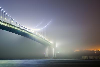 Verrazano-Narrows Bridge and Fort Wadsworth-John Cardasis-Photographic Print