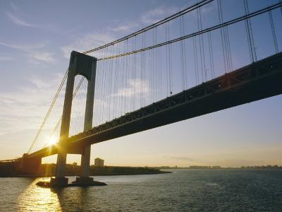 Verrazano Narrows Bridge, Approach to the City, New York, New York State, USA-Ken Gillham-Photographic Print