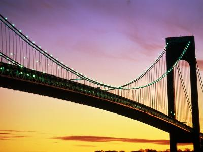 Verrazano Narrows Bridge at Dusk-Alan Schein-Photographic Print