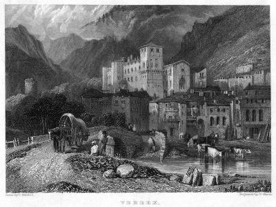 Verrex, Val D'Aosta, Italy, 19th Century-C Heath-Giclee Print