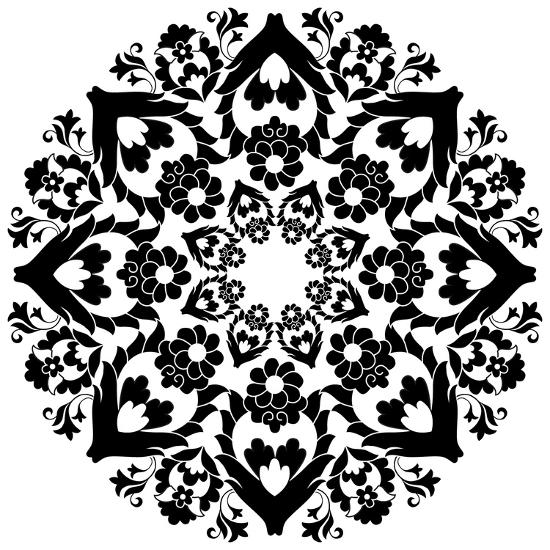 Versions of Ottoman Decorative Arts, Abstract Flowers- antsvgdal-Art Print