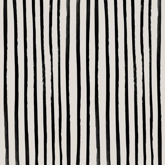 Vertical Black And White Watercolor Stripes-Leah Flores-Art Print