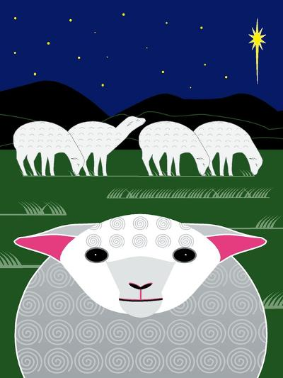 Vertical Christmas Sheep-Marie Sansone-Giclee Print