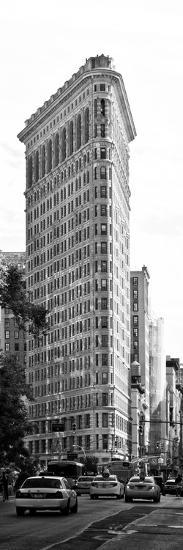 Vertical Panoramic of Flatiron Building and 5th Ave, Black and White Photography, Manhattan, NYC-Philippe Hugonnard-Photographic Print