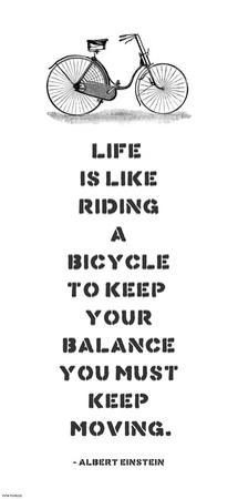 A. Einstein Bicycle Quote
