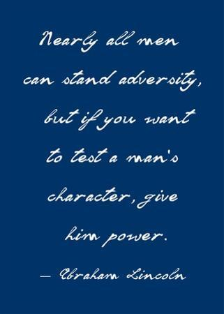 A Man's Character