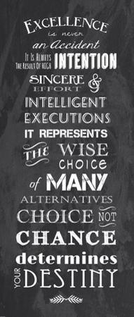 Excellence is Never an Accident