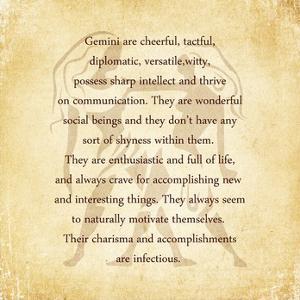 Gemini Character Traits by Veruca Salt