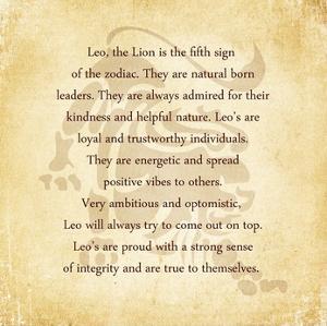 Leo Character Traits by Veruca Salt