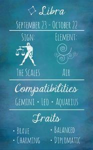 Libra Zodiac Sign by Veruca Salt