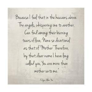 More Than Mother by Edgar Allan Poe by Veruca Salt