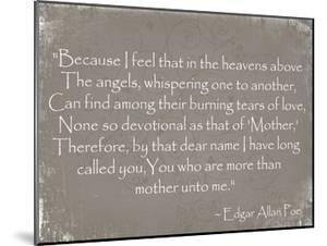 More Than Mother, Edgar Allan Poe by Veruca Salt