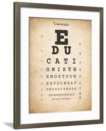 Nelson Mandela Eye Chart I