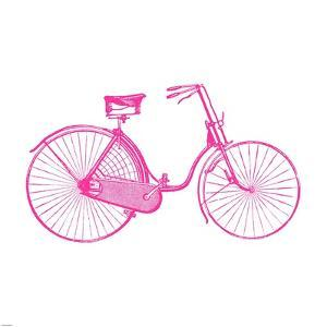 Pink On White Bicycle by Veruca Salt