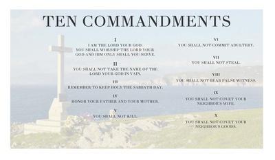 Ten Commandments - Cross