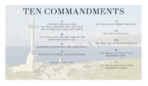 Ten Commandments - Cross by Veruca Salt