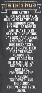 The Lord's Prayer - Chalkboard Style by Veruca Salt