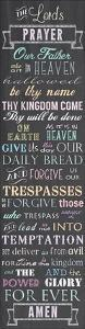 The Lord's Prayer - Chalkboard by Veruca Salt