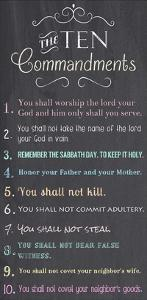 The Ten Commandments - Chalkboard by Veruca Salt