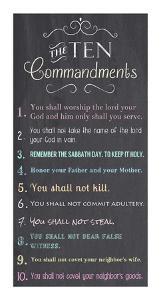 The Ten Commandments - Chalkboard by Veruca Salt