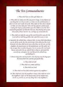The Ten Commandments - Red by Veruca Salt