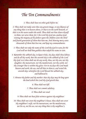 The Ten Commandments - Red