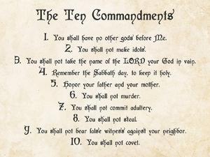The Ten Commandments by Veruca Salt