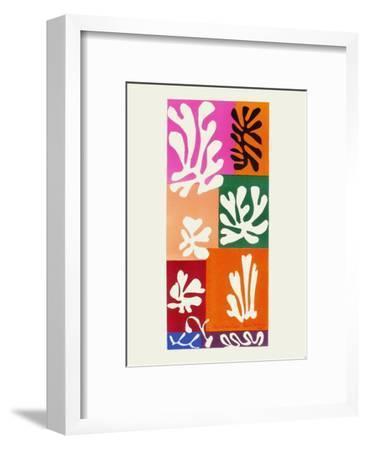 Verve - Fleurs de neige-Henri Matisse-Framed Premium Edition