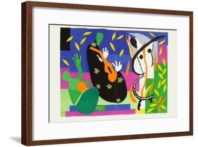 Verve - Tristesse Du Roi-Henri Matisse-Framed Premium Edition