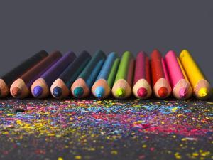 Pencils On Dark Background by vesnacvorovic